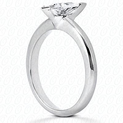 14KP Trillion Cut Diamond Unique Engagement Ring 0.00 CT. Solitaires Style