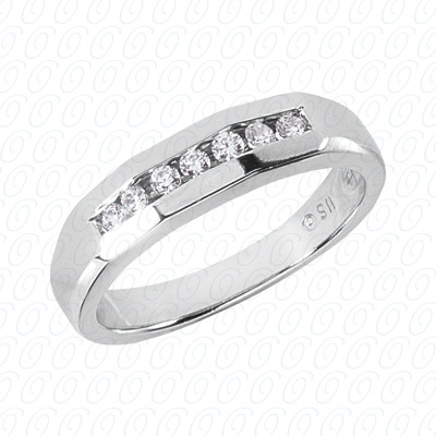 14KW Wedding Bands Cut Diamond Unique Engagement Ring 0.21 CT. Mens Rings Style