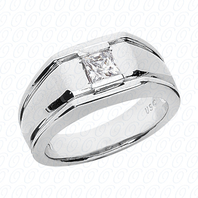 14KW Solitaires Cut Diamond Unique Engagement Ring 0.40 CT. Mens Rings Style