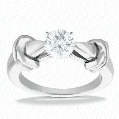 14KP Interchangeable Heads Cut Diamond Unique Engagement Ring 0.00 CT. Solitaires Style