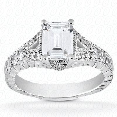 14KW Antique Cut Diamond Unique Engagement Ring 0.27 CT. Engagement Rings Style