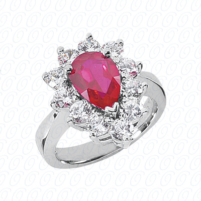 Pear Cut Diamond Unique Engagement Ring 1.65 CT. Color Stone Rings Style