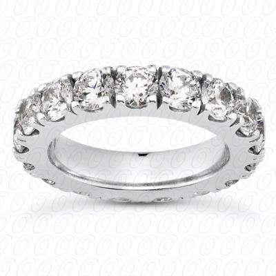 14KW  Round Cut Diamond Unique Engagement Ring 3.20 CT. Eternity Wedding Bands Style