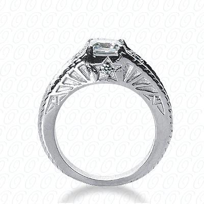 14KW Antique Cut Diamond Unique Engagement Ring 0.20 CT. Engagement Rings Style