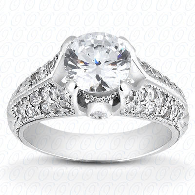 14KW Fancy Cut Diamond Unique Engagement Ring 0.40 CT. Engagement Rings Style