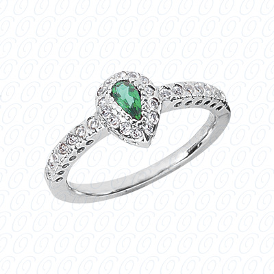 Pear Cut Diamond Unique Engagement Ring 0.28 CT. Color Stone Rings Style