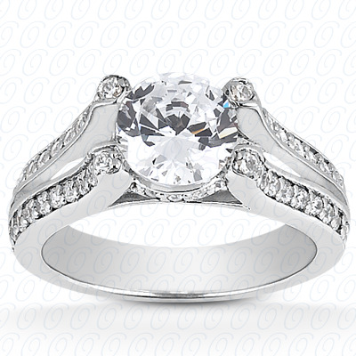 14KW Fancy Cut Diamond Unique Engagement Ring 0.35 CT. Engagement Rings Style