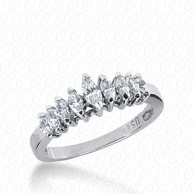 14KW Marquise Cut Diamond Unique Engagement Ring 0.63 CT. Wedding Bands Style