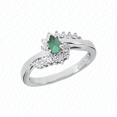 Pear Cut Diamond Unique Engagement Ring 0.53 CT. Color Stone Rings Style