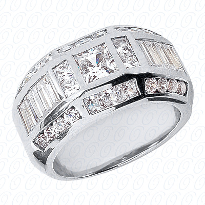 14KW Fancy Styles Cut Diamond Unique Engagement Ring 2.90 CT. Mens Rings Style