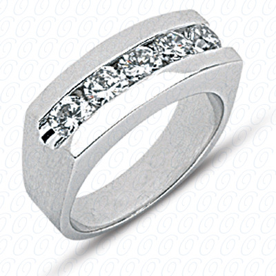 14KW Wedding Bands Cut Diamond Unique Engagement Ring 1.75 CT. Mens Rings Style
