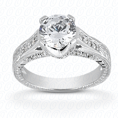 14KW Antique Cut Diamond Unique Engagement Ring 0.33 CT. Engagement Rings Style