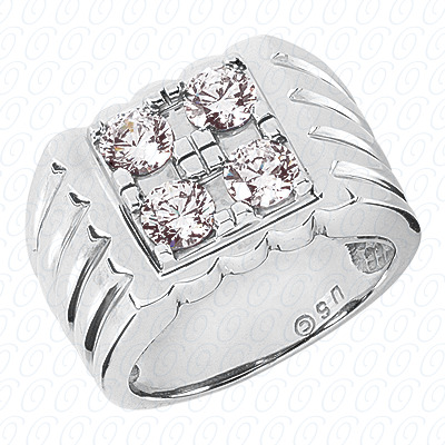 14KW Fancy Styles Cut Diamond Unique Engagement Ring 1.60 CT. Mens Rings Style