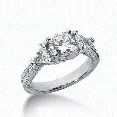 14KW Antique Cut Diamond Unique Engagement Ring 0.50 CT. Engagement Rings Style