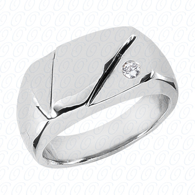 14KW Wedding Bands Cut Diamond Unique Engagement Ring 0.07 CT. Mens Rings Style