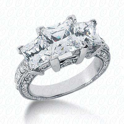 14KW Antique Cut Diamond Unique Engagement Ring 0.12 CT. Engagement Rings Style