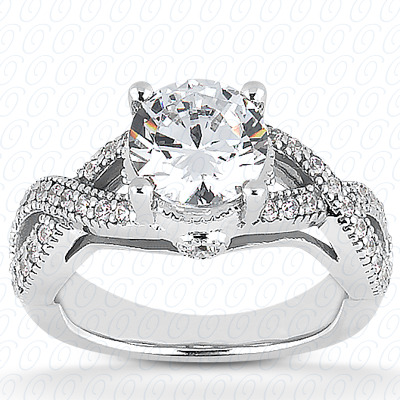 14KW Fancy Cut Diamond Unique Engagement Ring 0.19 CT. Engagement Rings Style