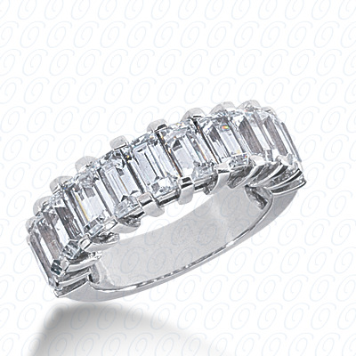 14KW Emerald Cut Diamond Unique Engagement Ring 3.63 CT. Wedding Bands Style