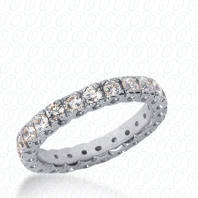 14KW  Round Cut Diamond Unique Engagement Ring 0.34 CT. Eternity Wedding Bands Style