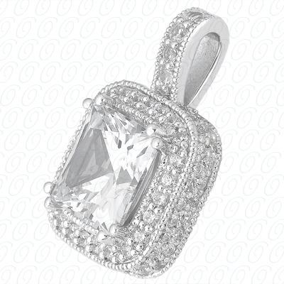 14KW  Color Stones Cut Diamond Unique Engagement Ring 0.94 CT. Pendants Style