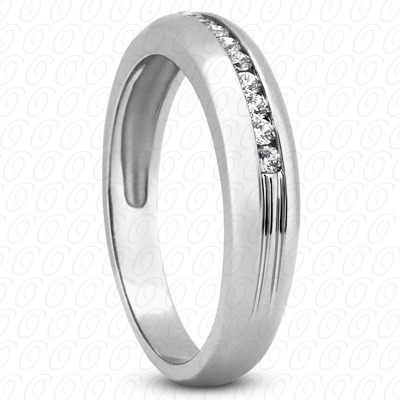 14KW Wedding Bands Cut Diamond Unique Engagement Ring 0.23 CT. Mens Rings Style