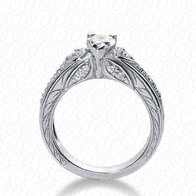 14KW Fancy Cut Diamond Unique Engagement Ring 0.24 CT. Engagement Rings Style