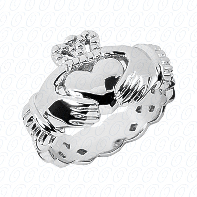 14KW Wedding Bands Cut Diamond Unique Engagement Ring 0.00 CT. Mens Rings Style