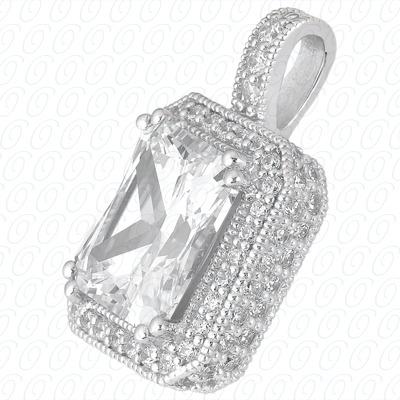 14KW  Color Stones Cut Diamond Unique Engagement Ring 1.17 CT. Pendants Style