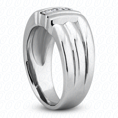 14KW Wedding Bands Cut Diamond Unique Engagement Ring 0.30 CT. Mens Rings Style