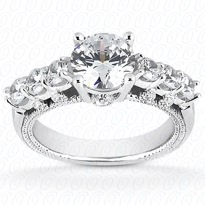14KW Fancy Cut Diamond Unique Engagement Ring 0.43 CT. Engagement Rings Style