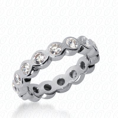 14KW  Round Cut Diamond Unique Engagement Ring 1.40 CT. Eternity Wedding Bands Style