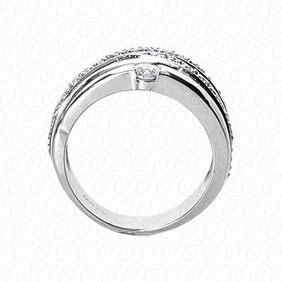 14KW Right Hand Rings Cut Diamond Unique Engagement Ring 0.41 CT. Fancy Rings Style