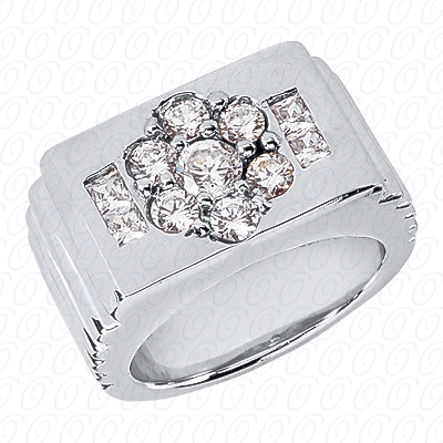 14KW Fancy Styles Cut Diamond Unique Engagement Ring 1.42 CT. Mens Rings Style