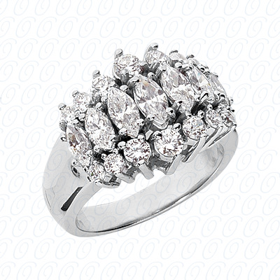 14KW Combination Cut Diamond Unique Engagement Ring 2.27 CT. Color Stone Rings Style