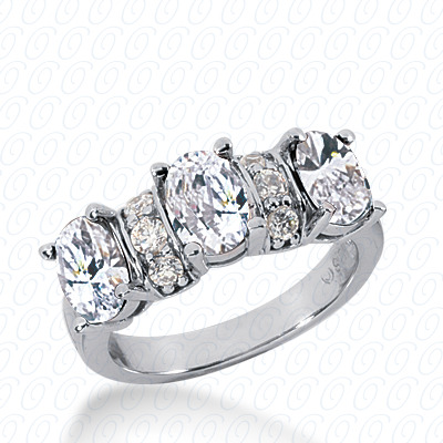 14KW Oval Cut Diamond Unique Engagement Ring 0.24 CT. Wedding Bands Style