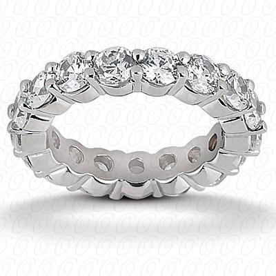 14KW  Round Cut Diamond Unique Engagement Ring 1.90 CT. Eternity Wedding Bands Style