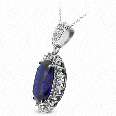 14KW  Color Stones Cut Diamond Unique Engagement Ring 2.59 CT. Pendants Style
