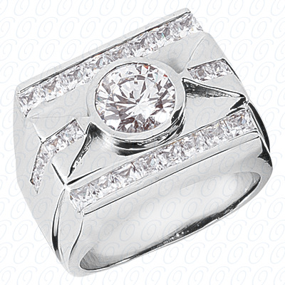 14KW Fancy Styles Cut Diamond Unique Engagement Ring 1.80 CT. Mens Rings Style