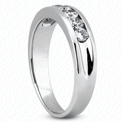 14KW Wedding Bands Cut Diamond Unique Engagement Ring 0.49 CT. Mens Rings Style
