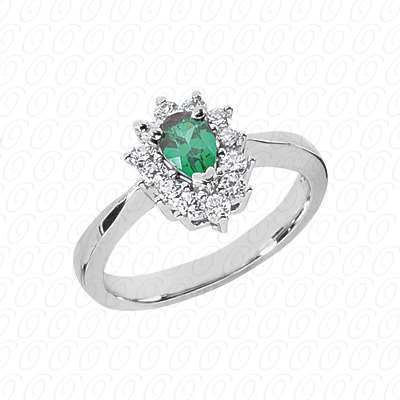 Pear Cut Diamond Unique Engagement Ring 0.76 CT. Color Stone Rings Style