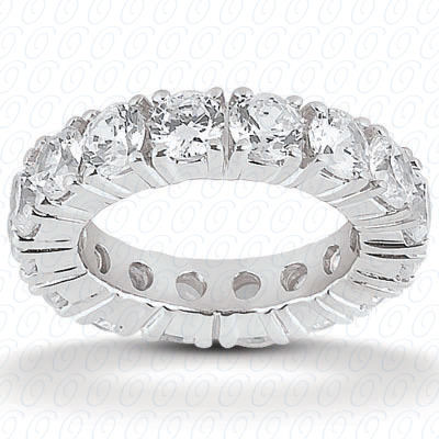 14KW  Round Cut Diamond Unique Engagement Ring 2.10 CT. Eternity Wedding Bands Style