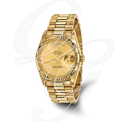 Certified Pre-owned Rolex 18ky Mens Day-Date Presidential Watch