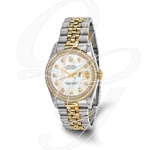 Certified Pre-owned Rolex Steel/18ky Mens Diamond MOP Watch