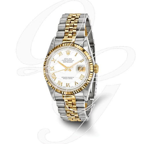 Certified Pre-owned Rolex Steel/18ky Mens White Dial Watch