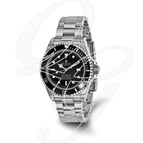 Certified Pre-owned Rolex Stainless Steel Mens Sea Dweller Black Watch