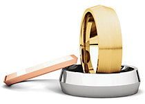 Knife Edge Comfort Fit Wedding Bands