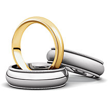 Milgrain Comfort Fit Light Wedding Bands