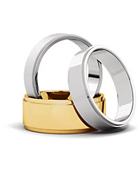 Flat Edge Wedding Bands