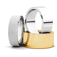 Flat Comfort Fit Wedding Bands
