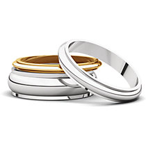Half Round Edge Wedding Bands